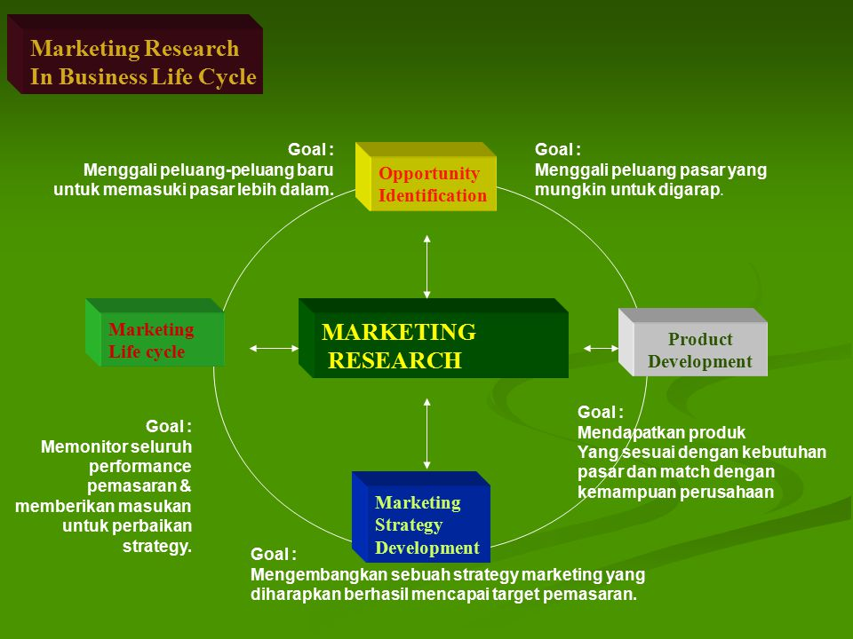 Marketing Research In Business Life Cycle MARKETING RESEARCH