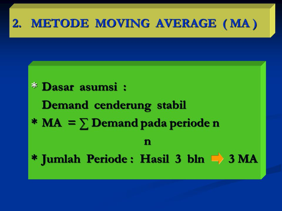 2. METODE MOVING AVERAGE ( MA )