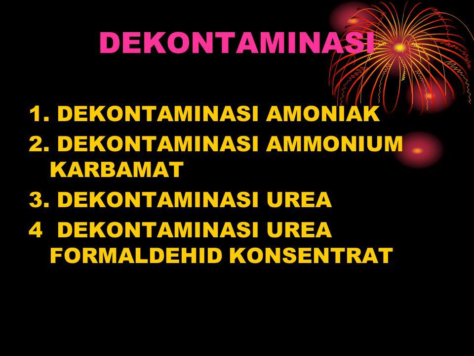 DEKONTAMINASI 1. DEKONTAMINASI AMONIAK