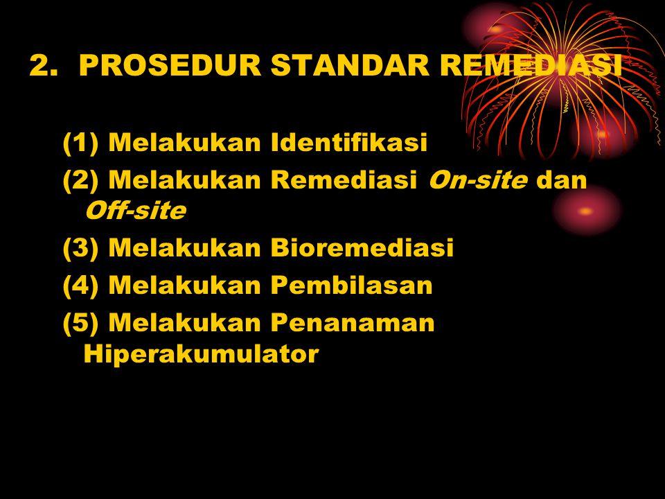 2. PROSEDUR STANDAR REMEDIASI