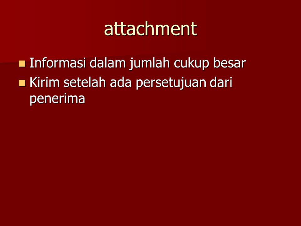 attachment Informasi dalam jumlah cukup besar