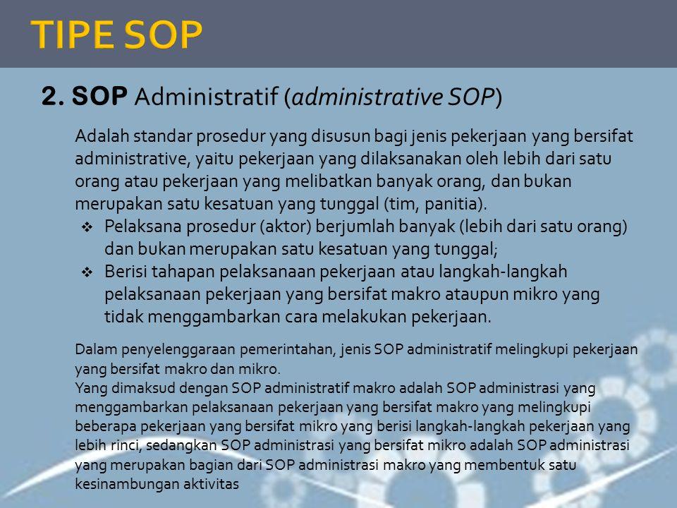 TIPE SOP 2. SOP Administratif (administrative SOP)