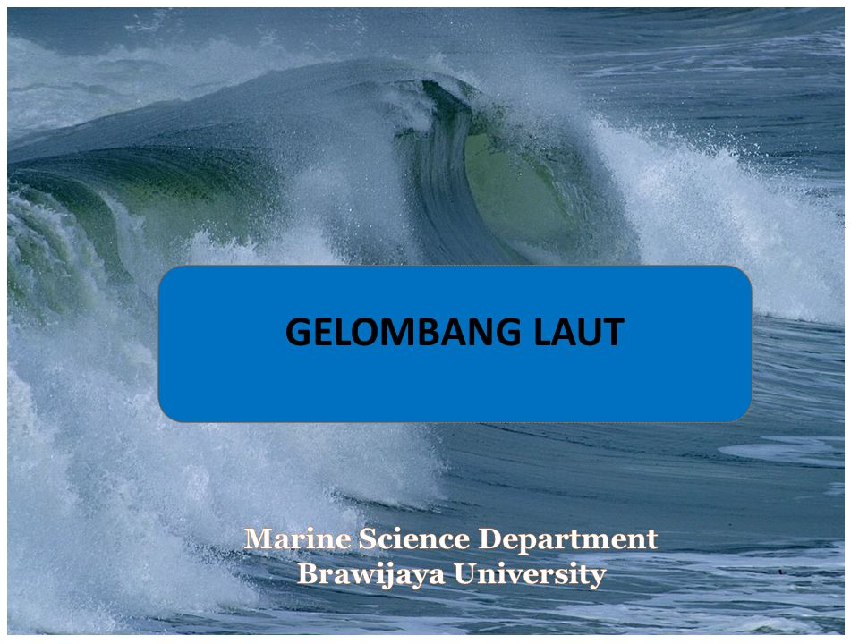 Marine Science Department Brawijaya University