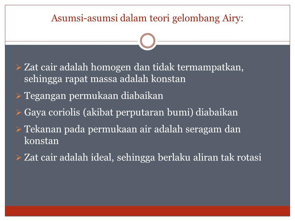 Asumsi-asumsi dalam teori gelombang Airy: