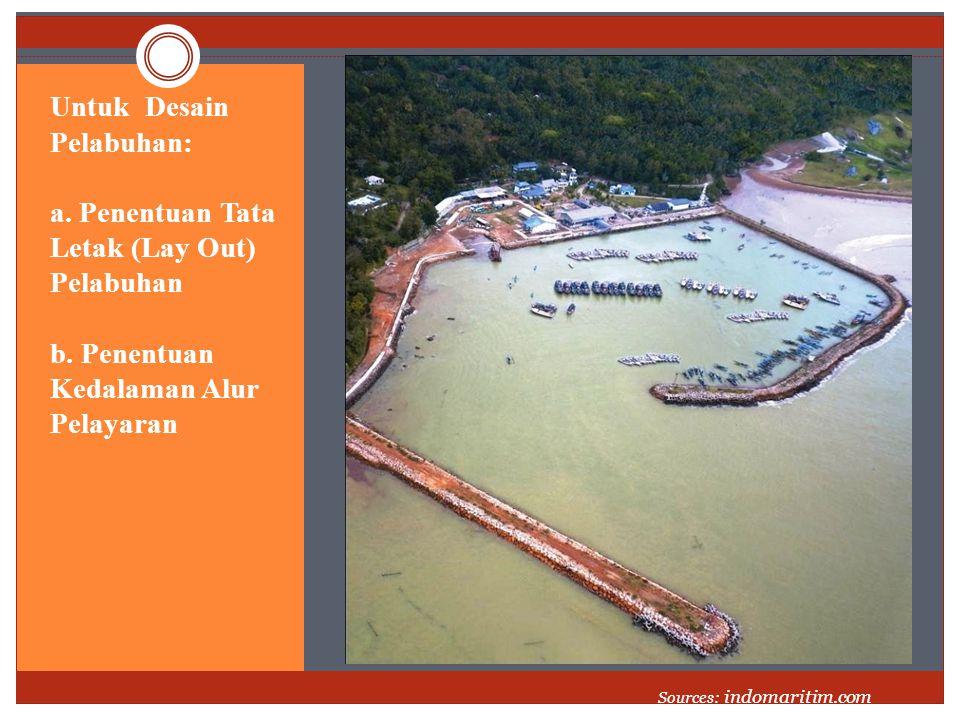 Untuk Desain Pelabuhan: a. Penentuan Tata Letak (Lay Out) Pelabuhan b