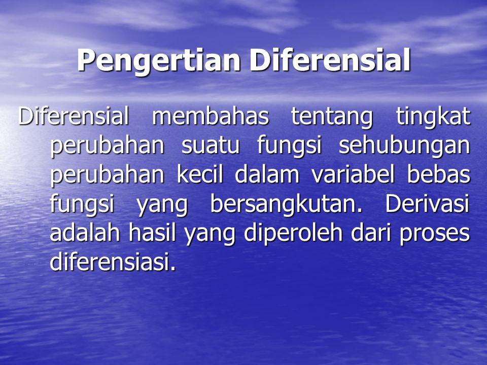 Pengertian Diferensial