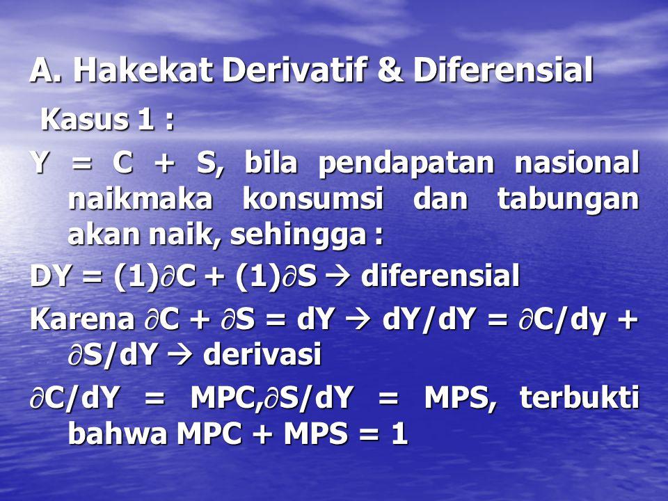 A. Hakekat Derivatif & Diferensial Kasus 1 :