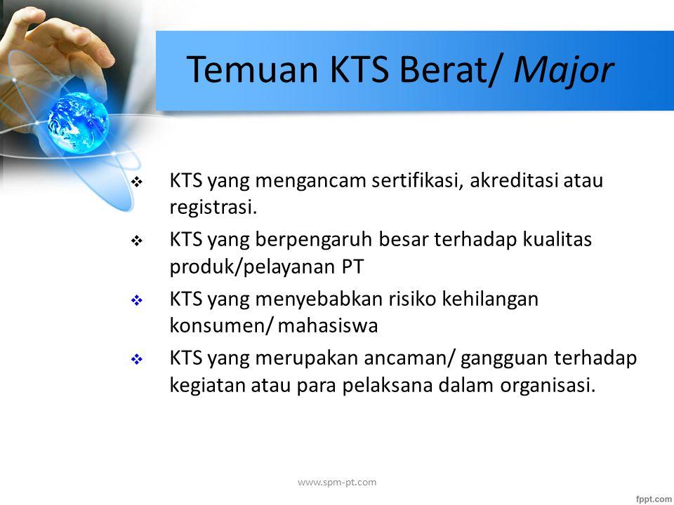 Temuan KTS Berat/ Major