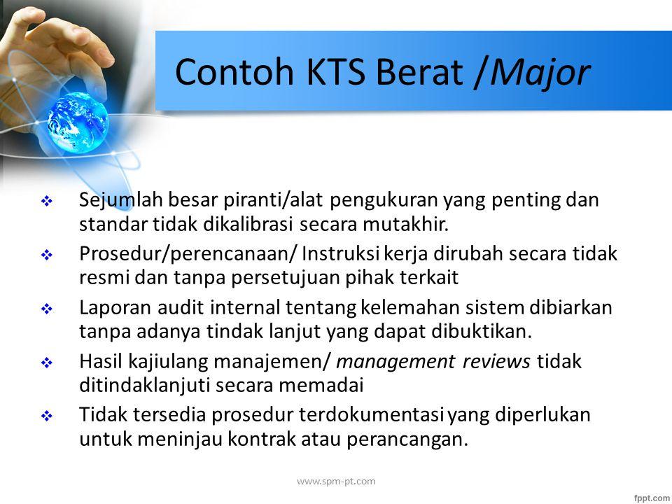 Contoh KTS Berat /Major