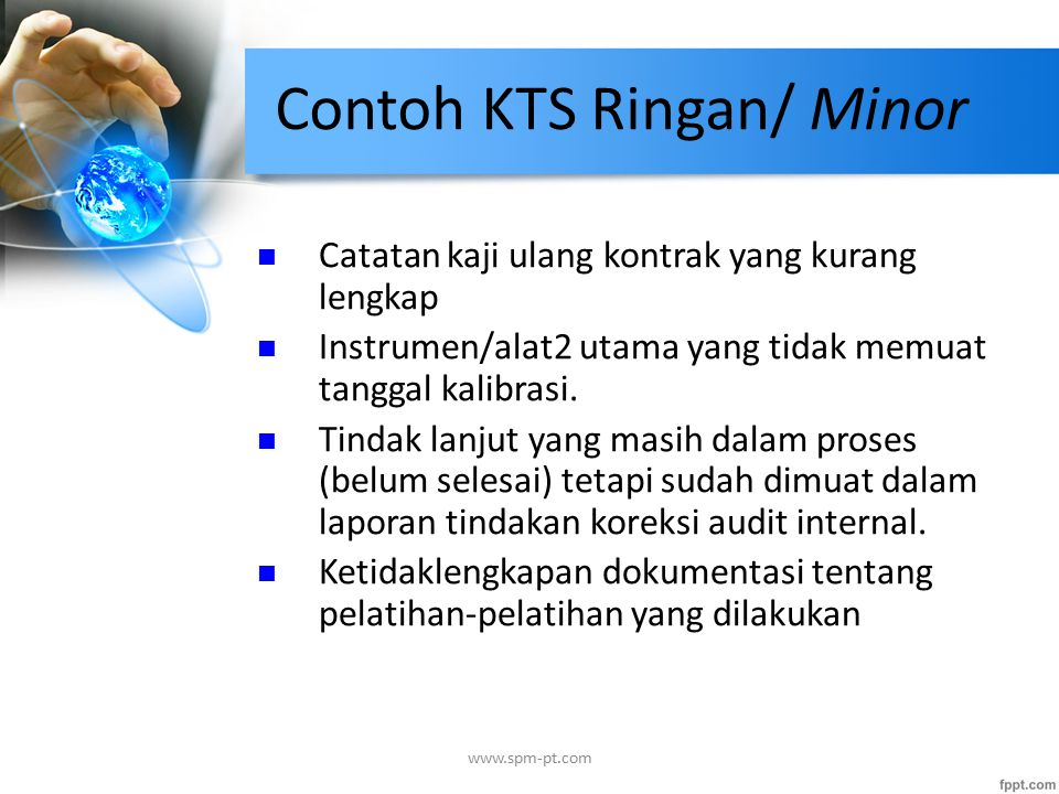 Contoh KTS Ringan/ Minor