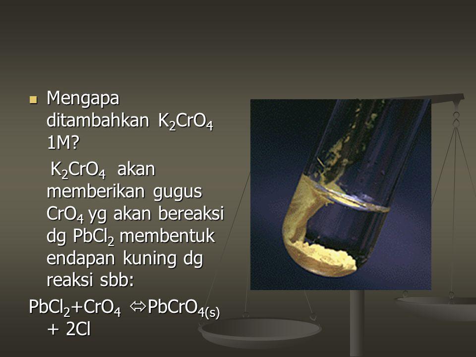 Mengapa ditambahkan K2CrO4 1M
