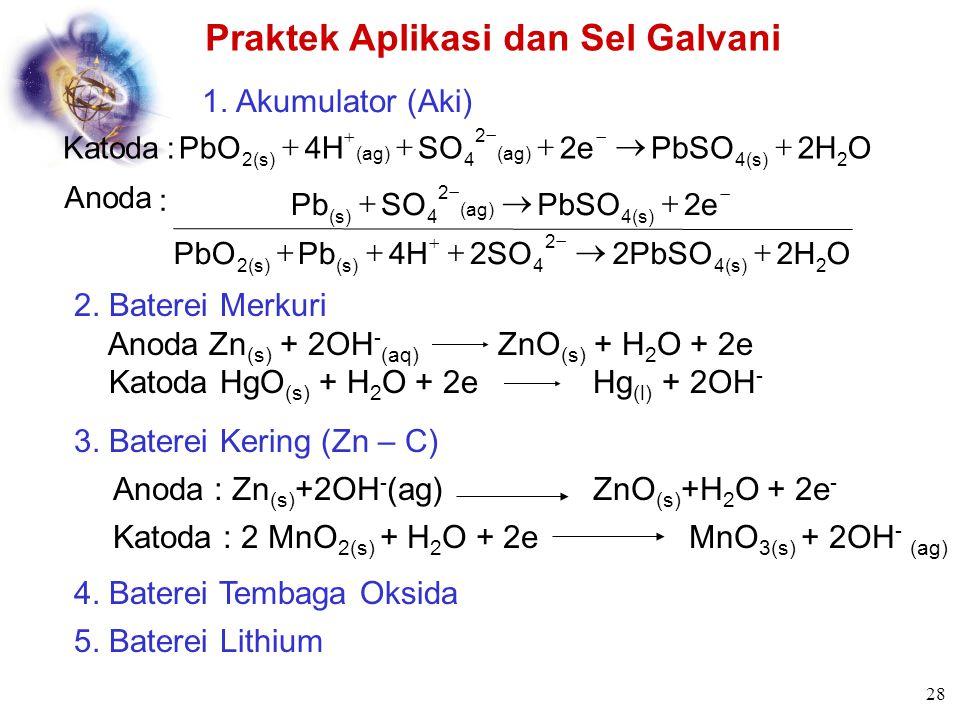 Praktek Aplikasi dan Sel Galvani