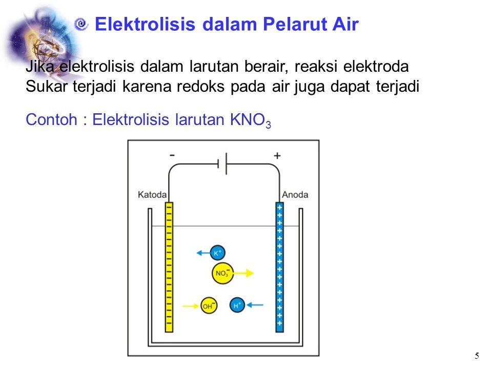 Elektrolisis dalam Pelarut Air
