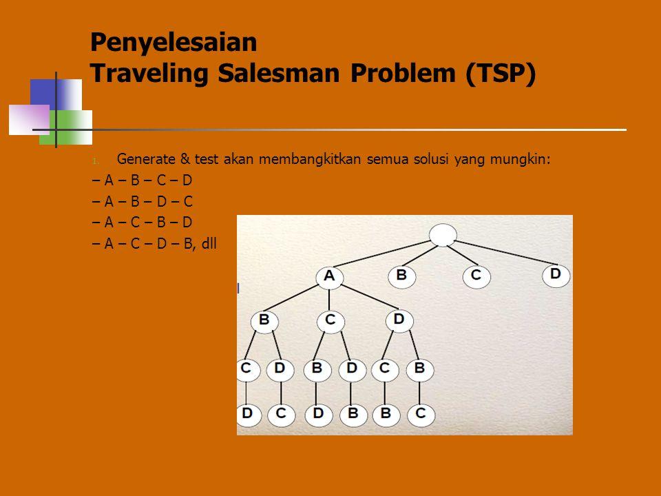 Penyelesaian Traveling Salesman Problem (TSP)
