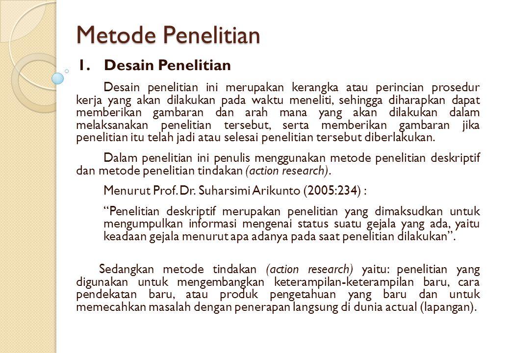 Metode Penelitian 1. Desain Penelitian