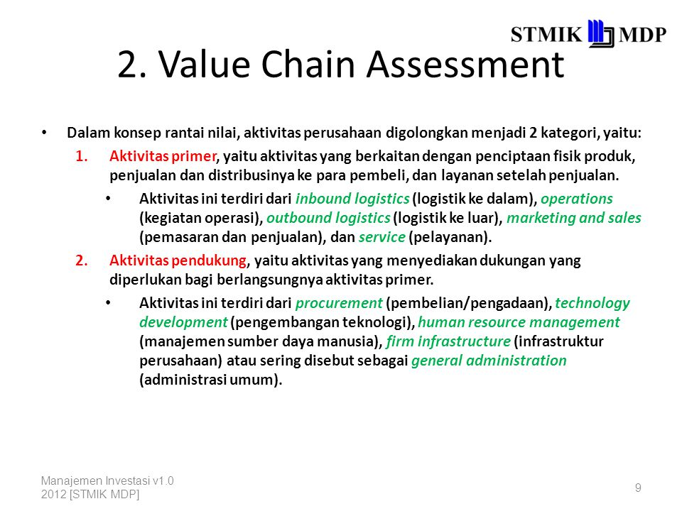 2. Value Chain Assessment