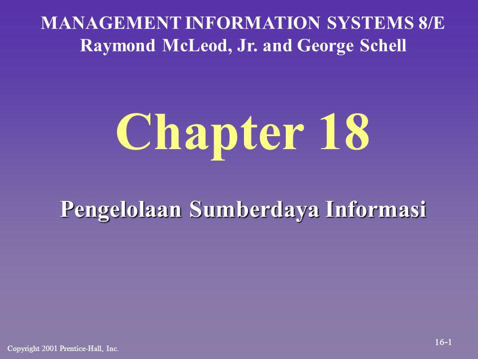 Chapter 18 Pengelolaan Sumberdaya Informasi