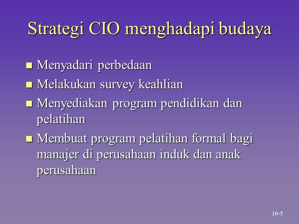 Strategi CIO menghadapi budaya