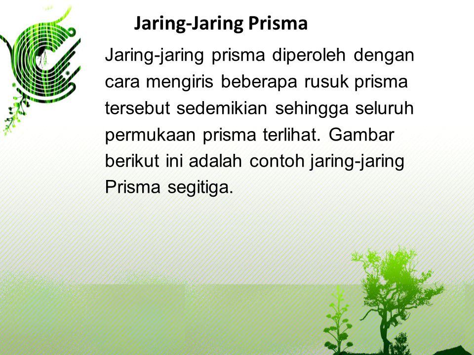Jaring-Jaring Prisma Jaring-jaring prisma diperoleh dengan