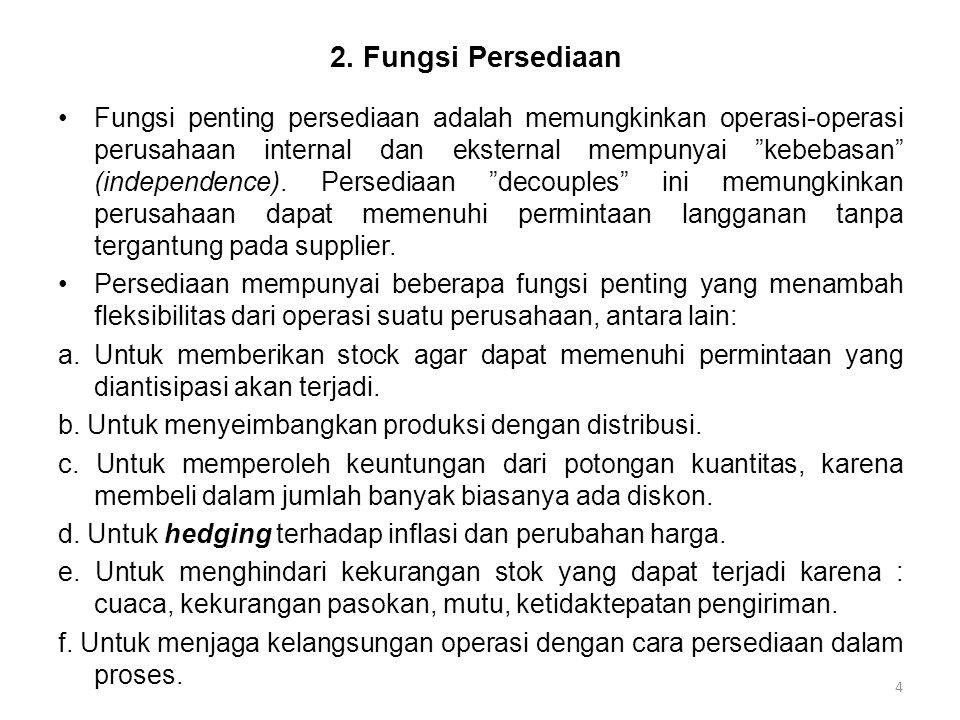 2. Fungsi Persediaan