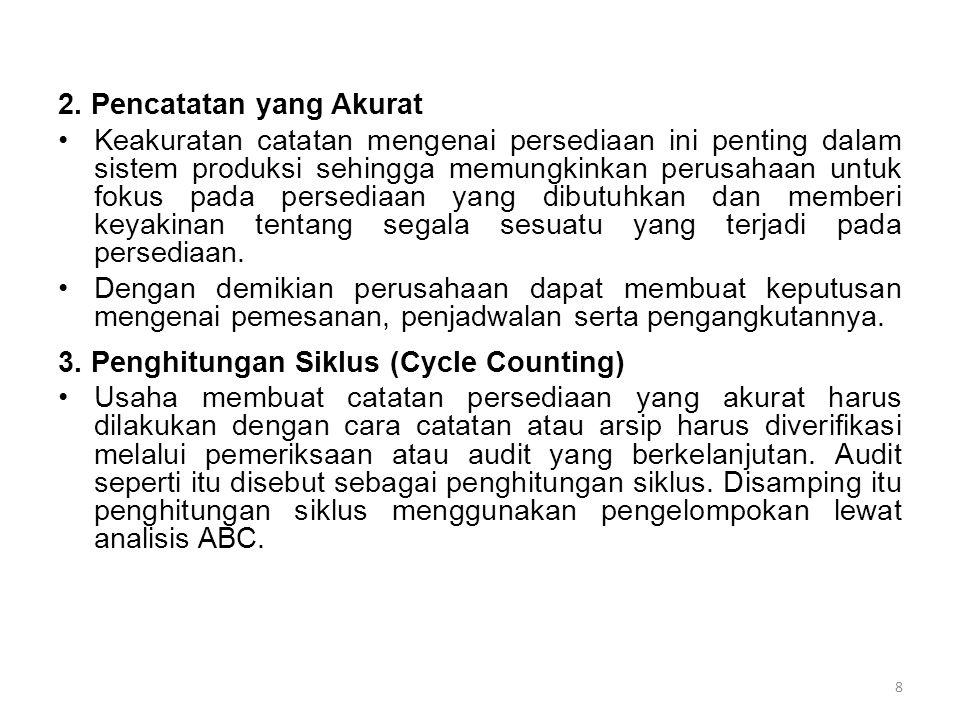 2. Pencatatan yang Akurat