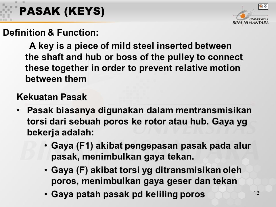 PASAK (KEYS) Definition & Function:
