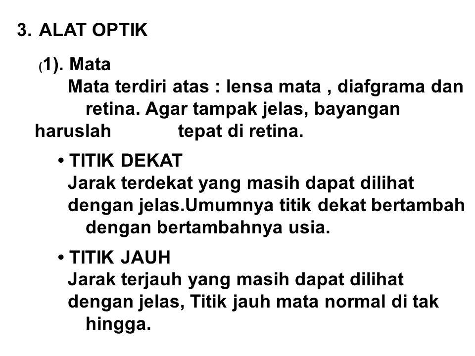 ALAT OPTIK (1). Mata.