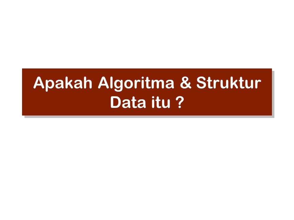 Apakah Algoritma & Struktur Data itu