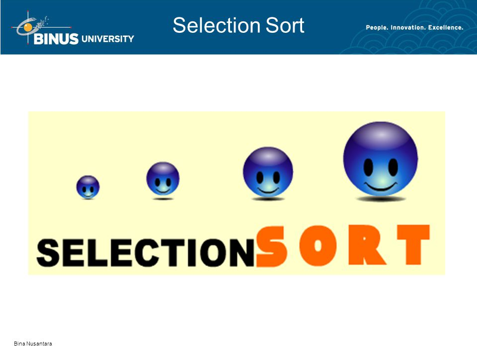 Selection Sort Bina Nusantara