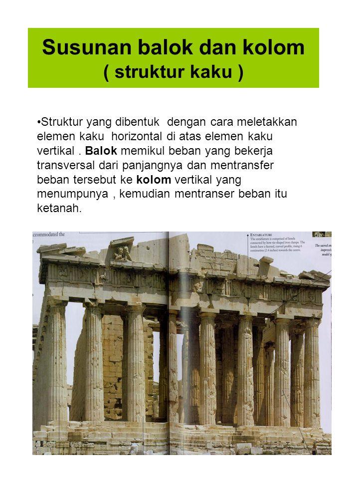 Susunan balok dan kolom ( struktur kaku )