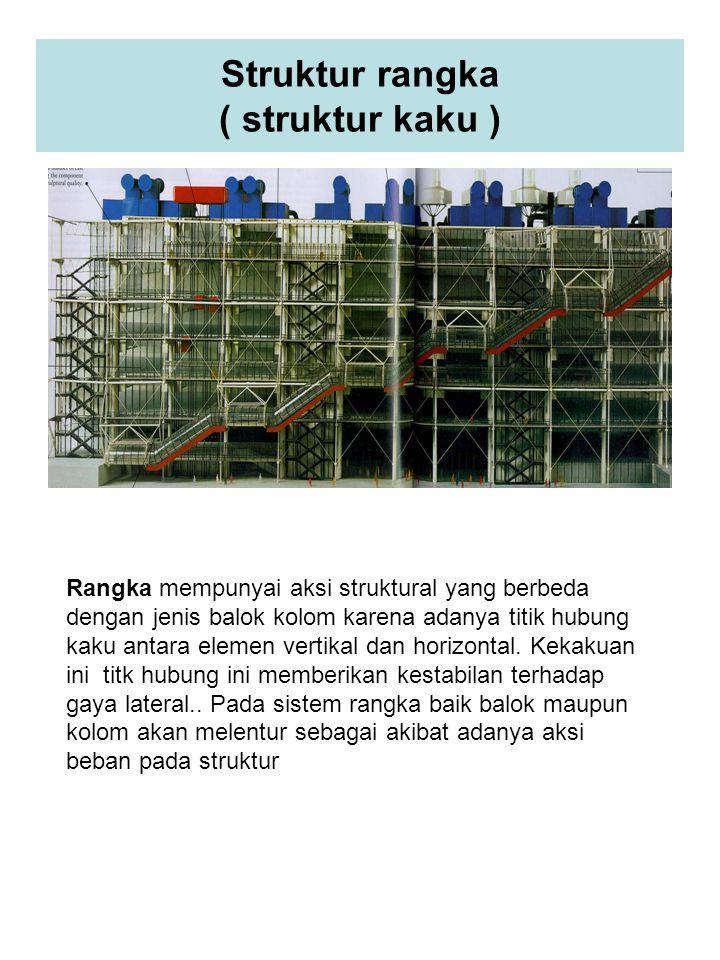 Struktur rangka ( struktur kaku )