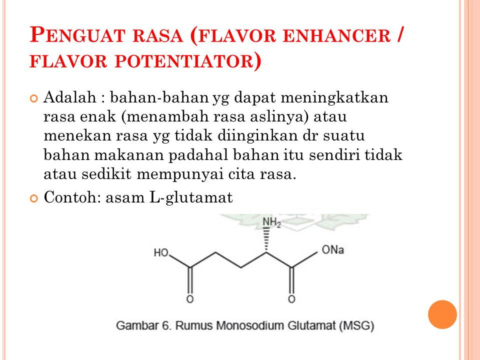 Penguat rasa (flavor enhancer / flavor potentiator)