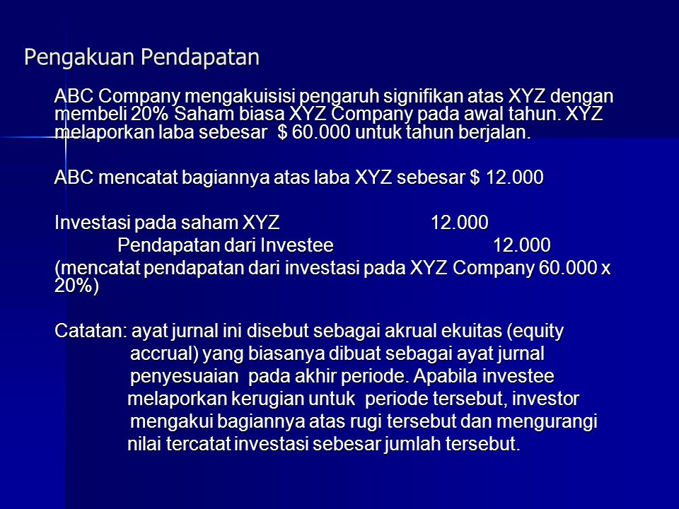 Pengakuan Pendapatan