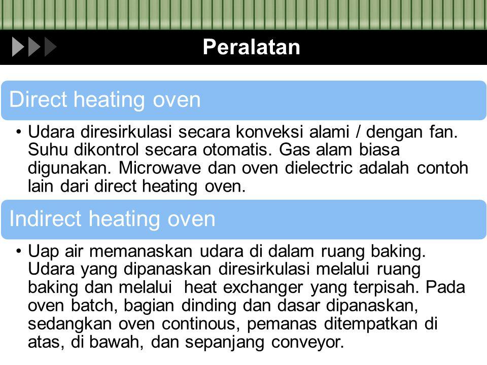 Peralatan Direct heating oven