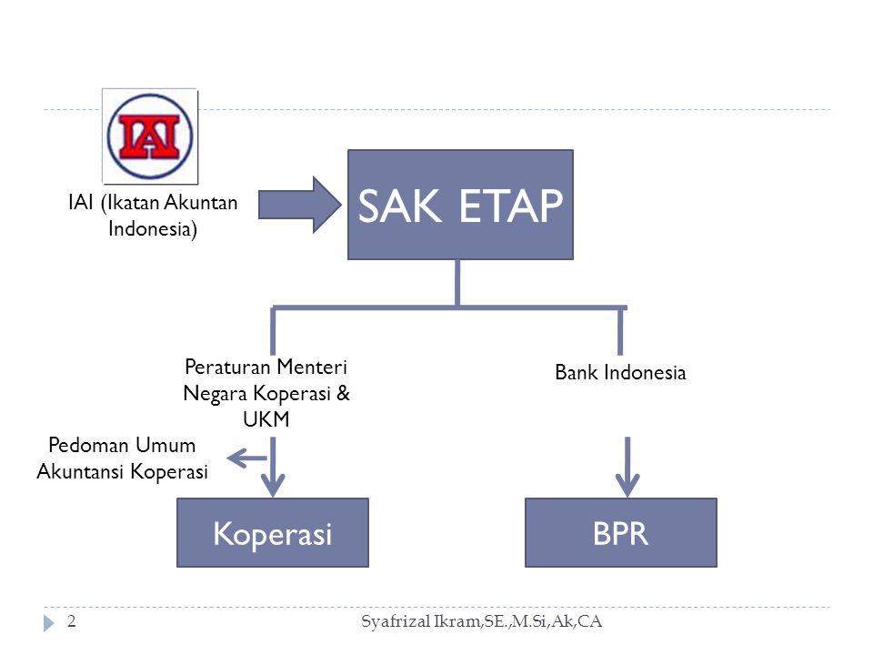 SAK ETAP Koperasi BPR IAI (Ikatan Akuntan Indonesia) Bank Indonesia