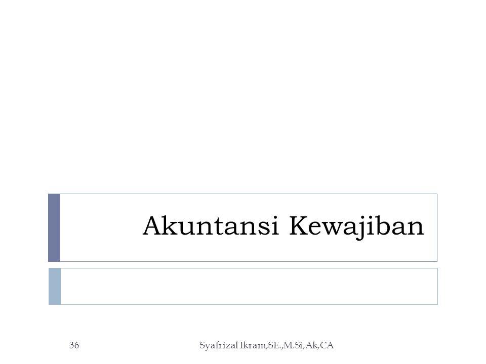 Akuntansi Kewajiban Syafrizal Ikram,SE.,M.Si,Ak,CA