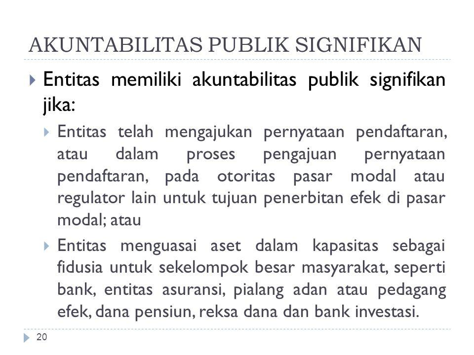 AKUNTABILITAS PUBLIK SIGNIFIKAN