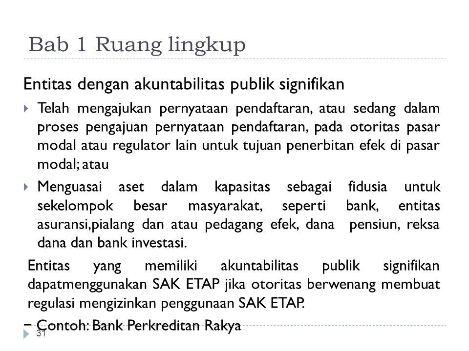 Bab 1 Ruang lingkup Entitas dengan akuntabilitas publik signifikan