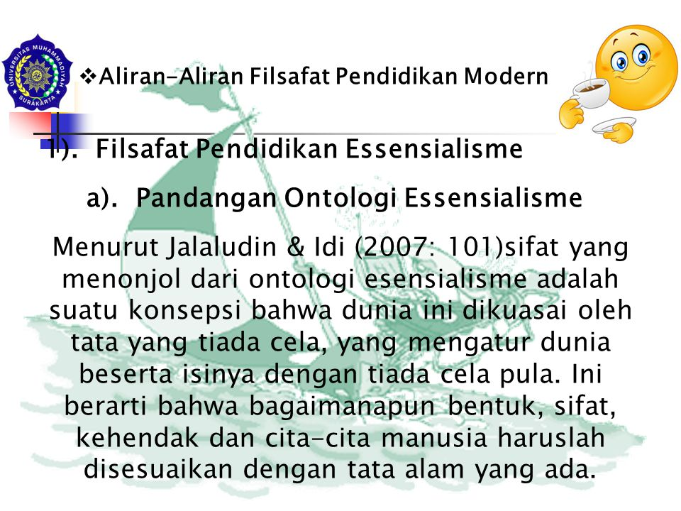 1). Filsafat Pendidikan Essensialisme