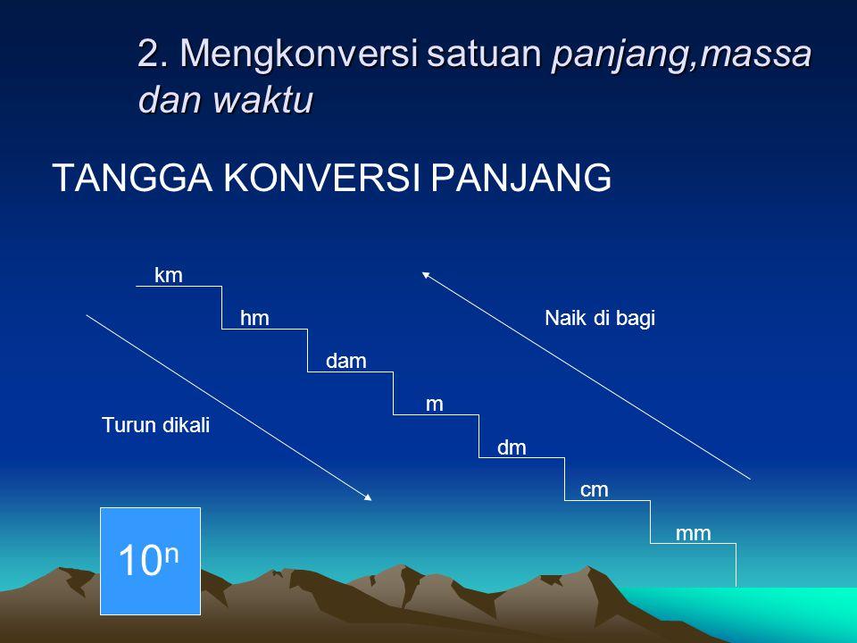 2. Mengkonversi satuan panjang,massa dan waktu