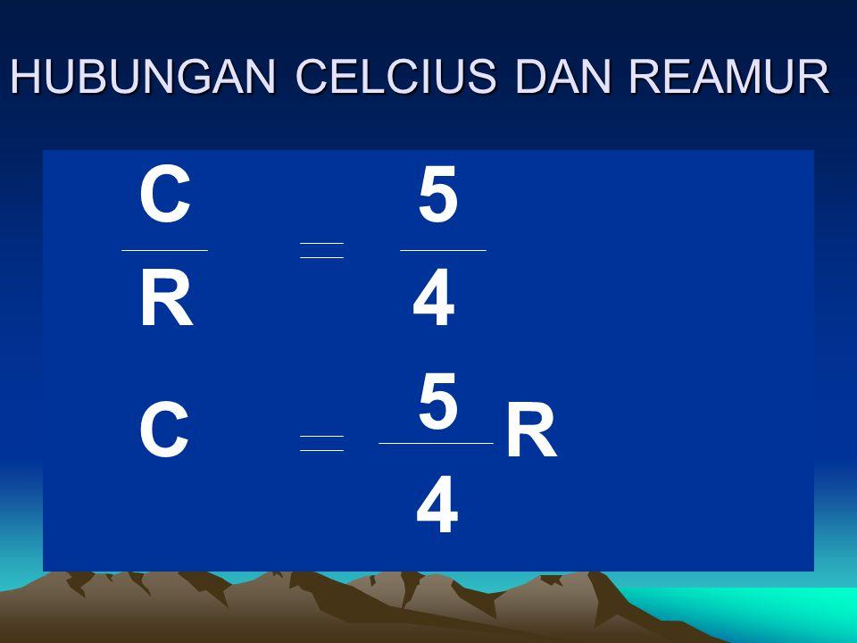 HUBUNGAN CELCIUS DAN REAMUR
