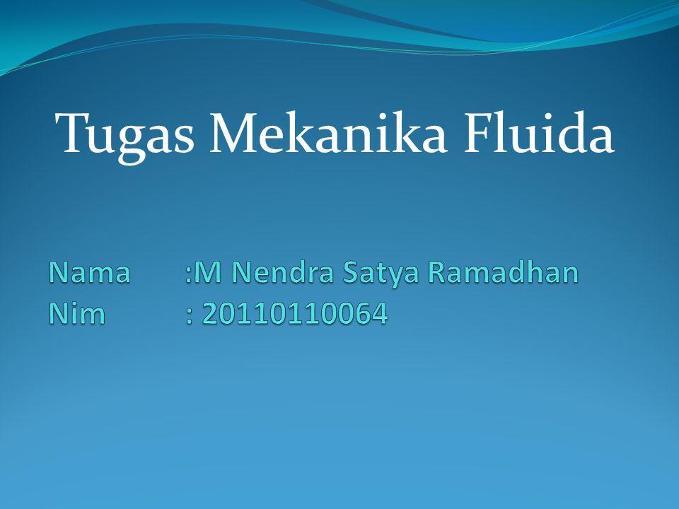 Nama :M Nendra Satya Ramadhan Nim : 20110110064