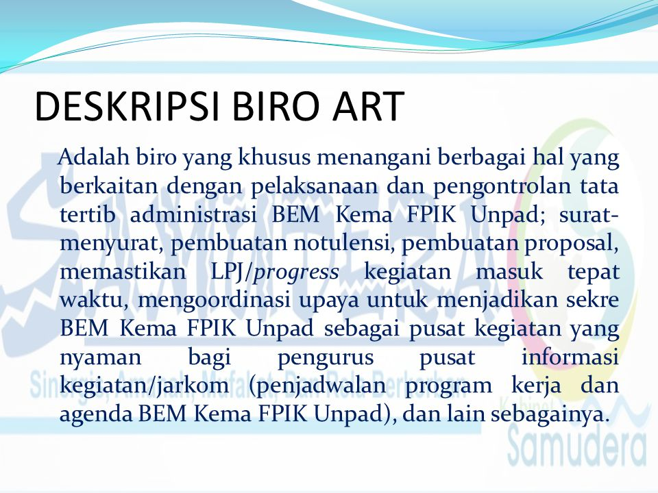 DESKRIPSI BIRO ART