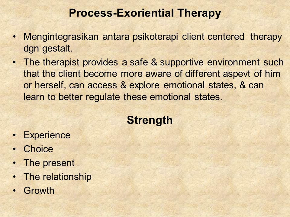 Process-Exoriential Therapy