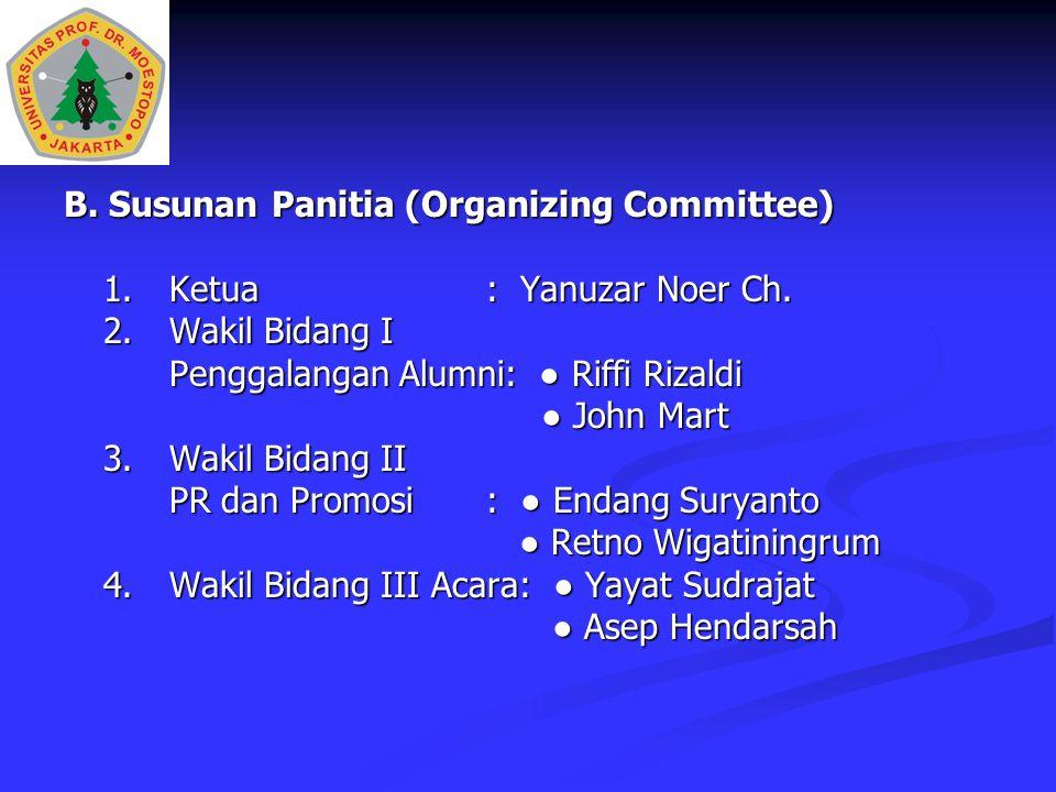 B. Susunan Panitia (Organizing Committee)