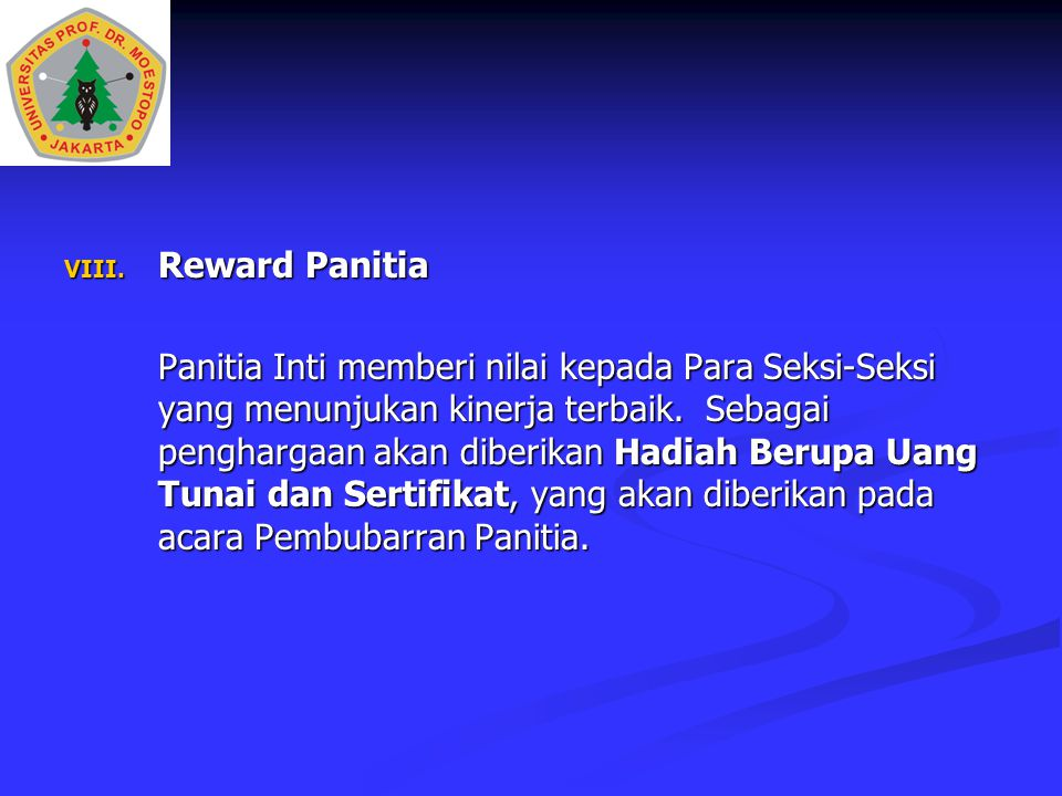 Reward Panitia