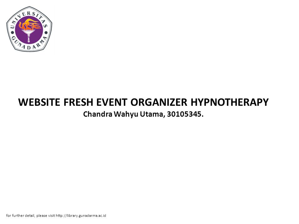 WEBSITE FRESH EVENT ORGANIZER HYPNOTHERAPY Chandra Wahyu Utama, 30105345.