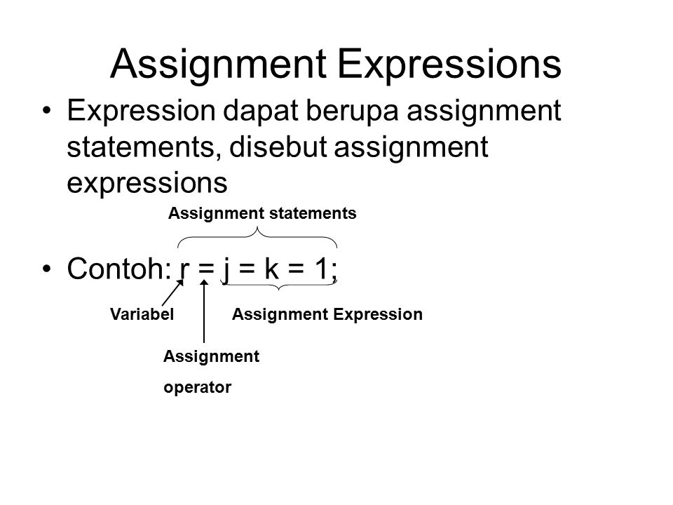 Assignment Expressions