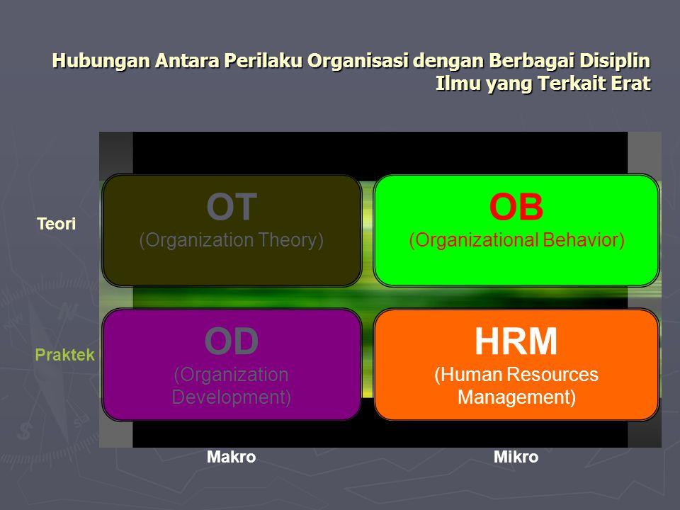 Hubungan Antara Perilaku Organisasi dengan Berbagai Disiplin Ilmu yang Terkait Erat