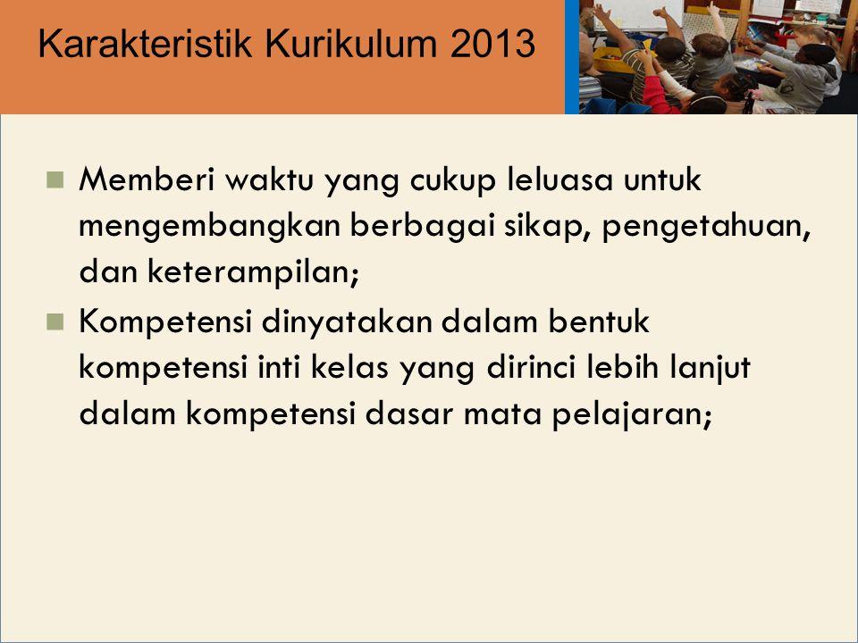 Karakteristik Kurikulum 2013